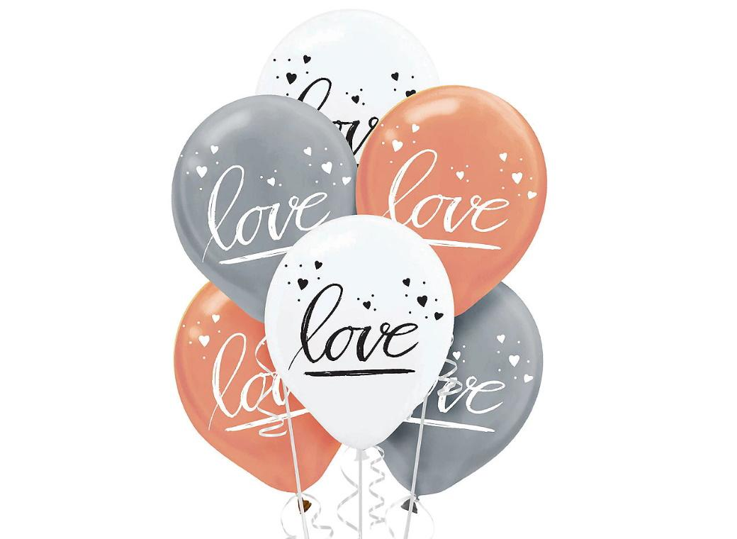 Navy Love Balloons 6pk