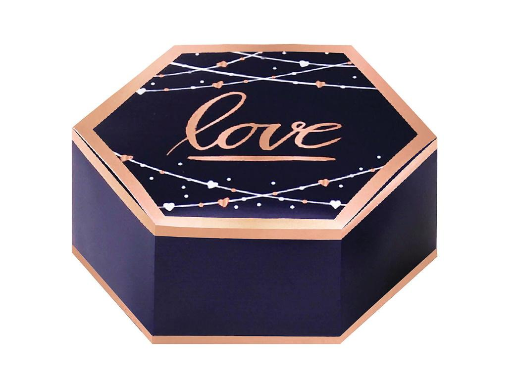 Navy Love Favour Boxes 8pk