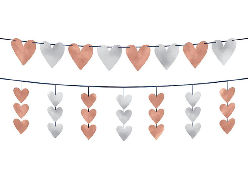 Navy Love Hearts Garland Kit