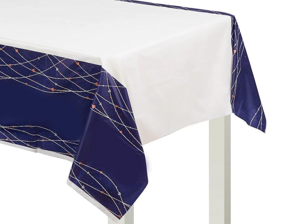 Navy Love Table Cover