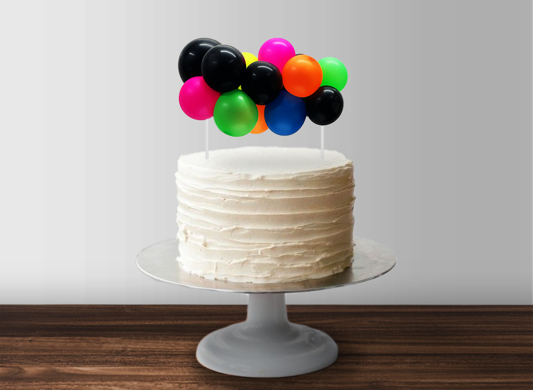 Balloon Garland Cake Topper - Neon
