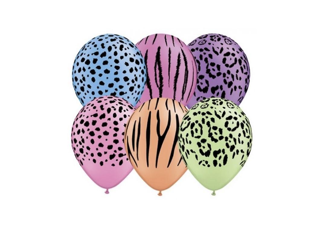 Safari Neon Balloons 5pk