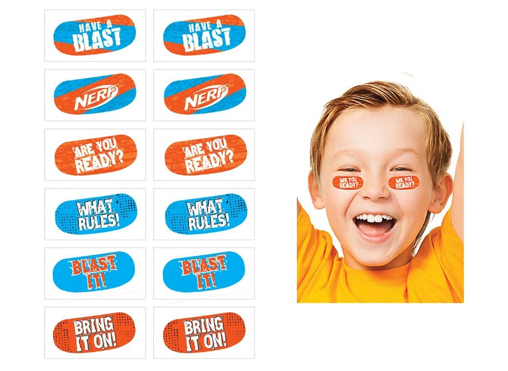 Nerf Face Tattoos