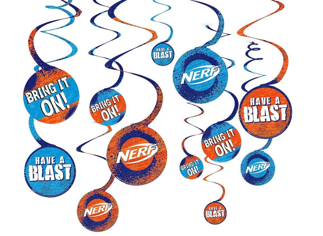 Nerf Hanging Swirl Decorations