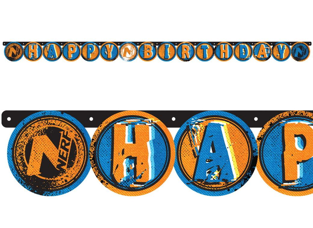 Nerf Happy Birthday Banner