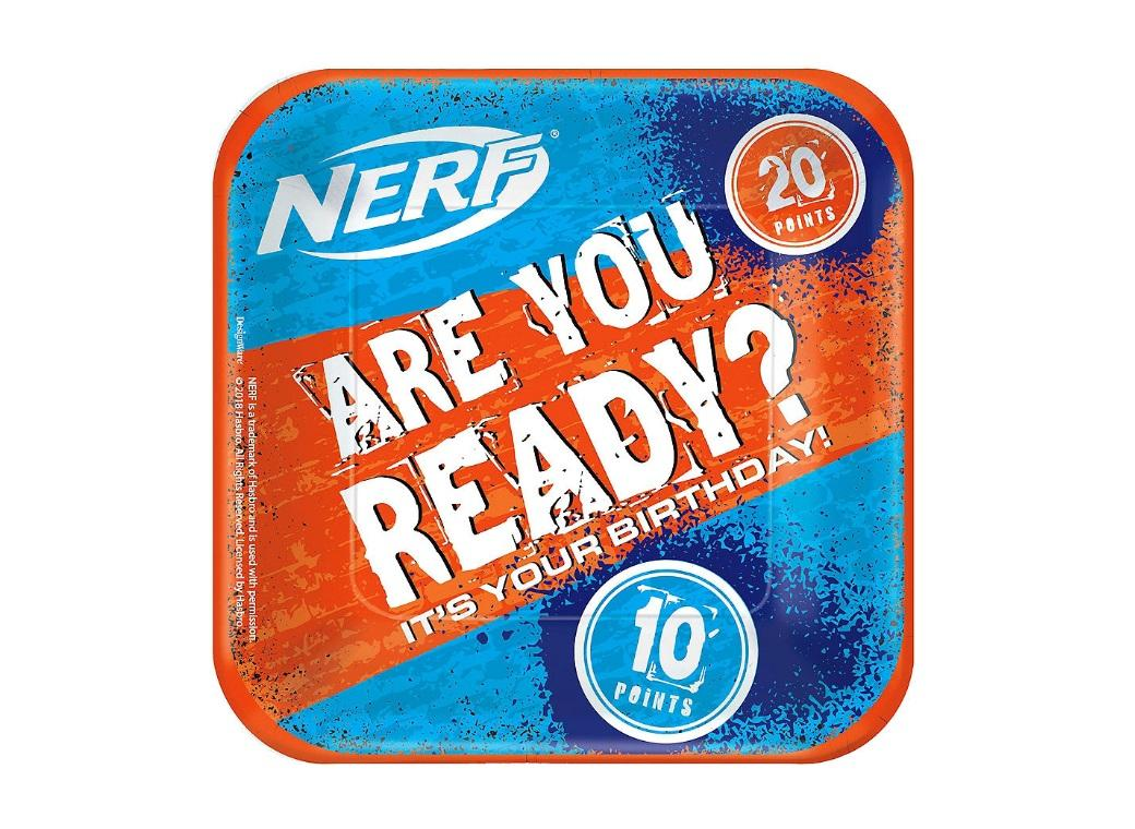 Nerf Lunch Plates 8pk