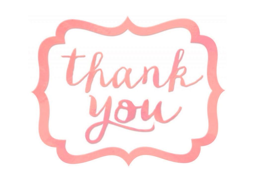 Thank You Stickers 50pk - New Pink