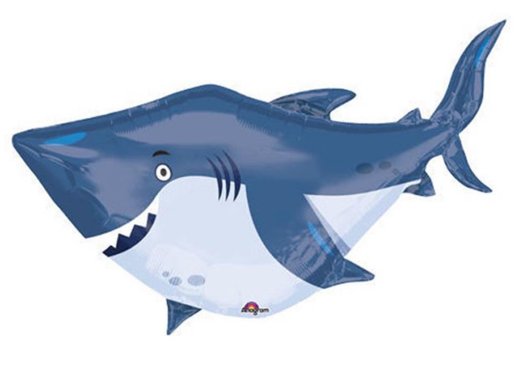 Ocean Buddies Shark SuperShape Foil Balloon