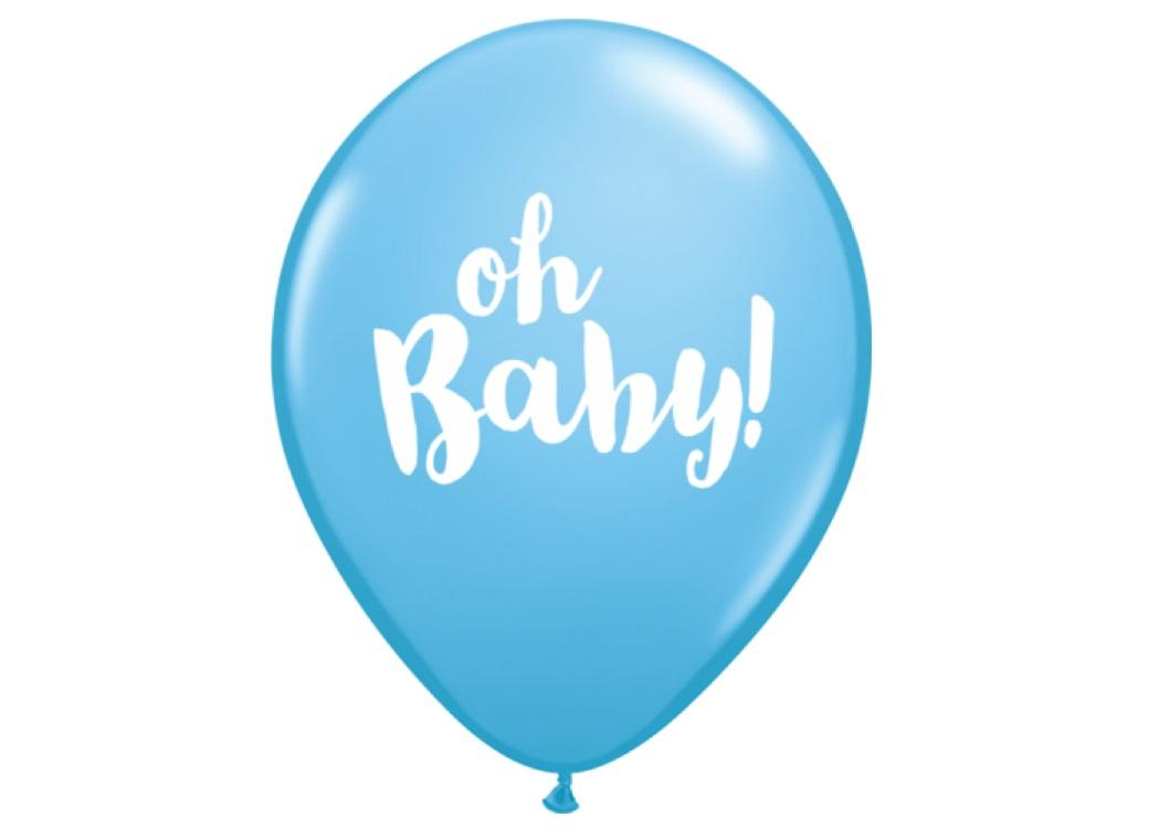 Oh Baby Balloon - Pale Blue