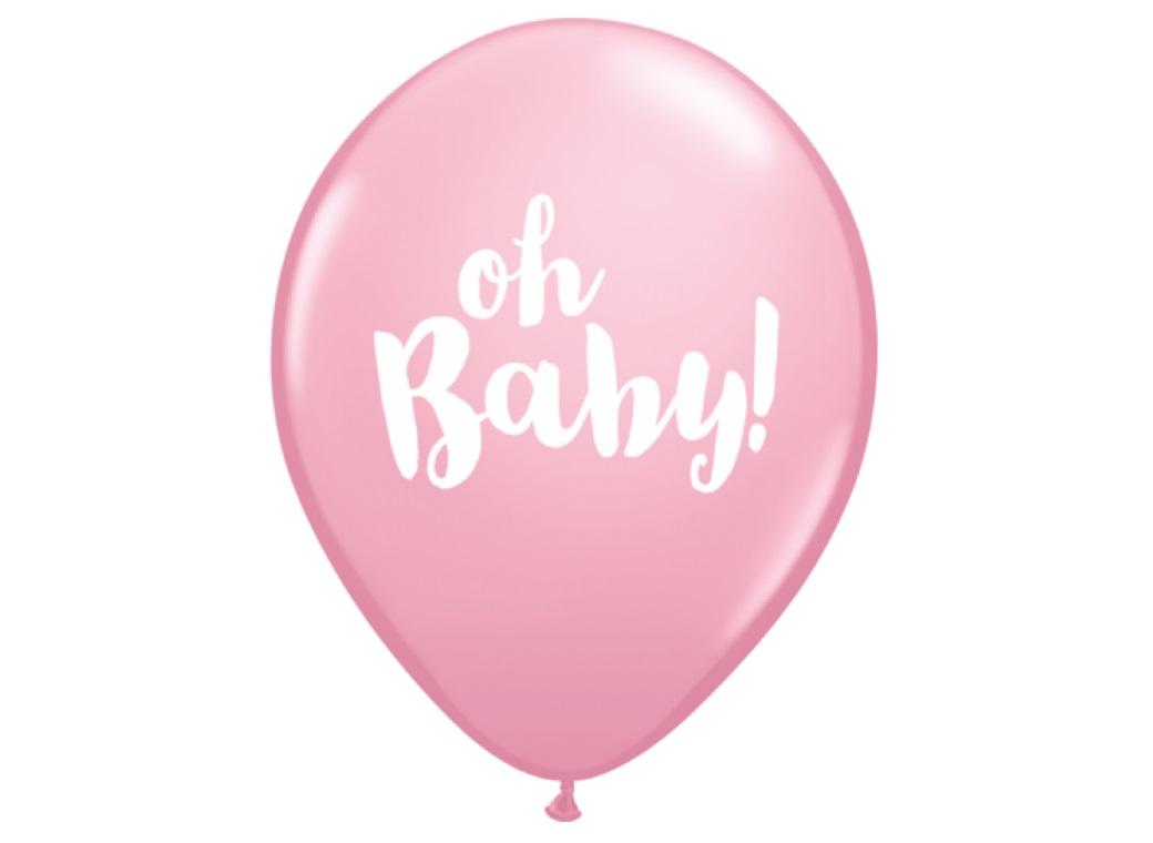 Oh Baby Balloon - Pastel Pink