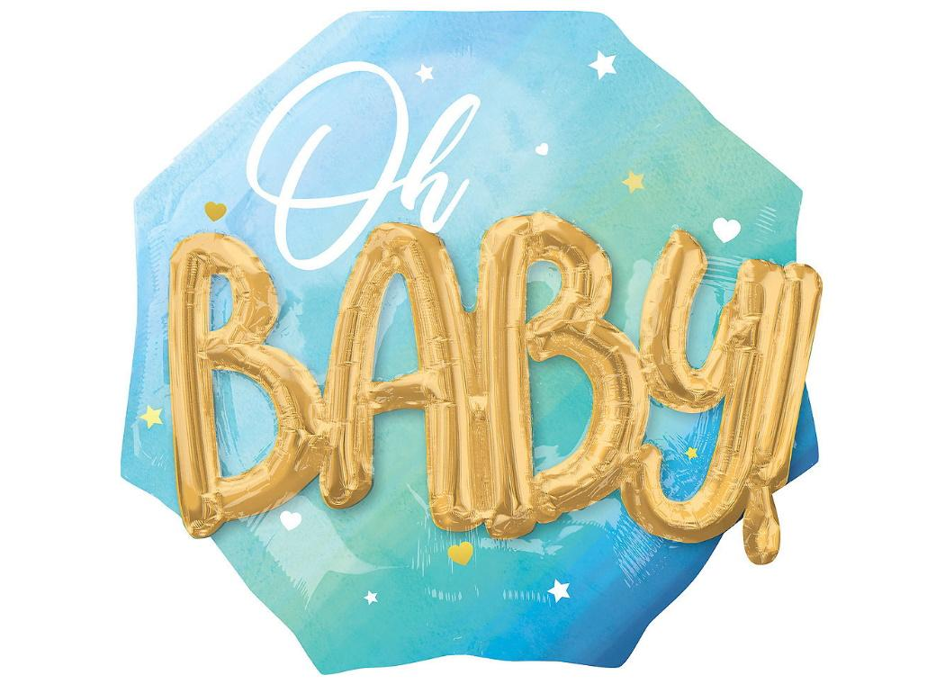Oh Baby Boy 3D Foil Balloon