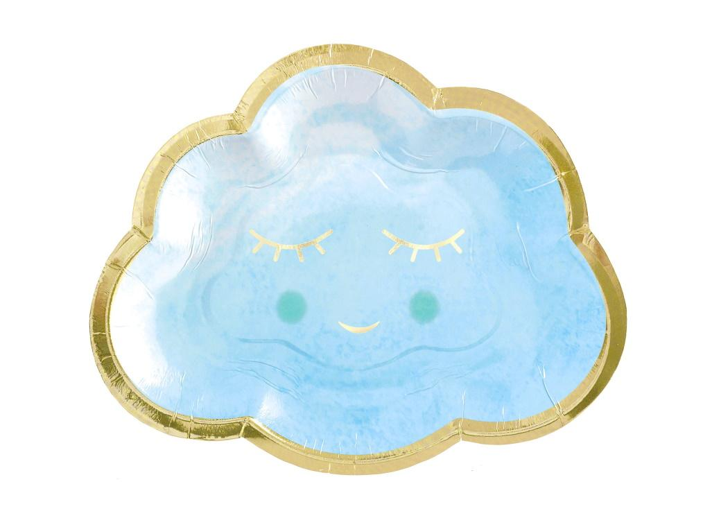 Oh Baby Boy Cloud Shaped Plates 8pk