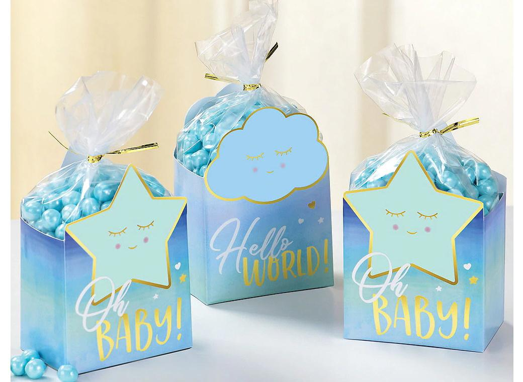 Oh Baby Boy Favour Box Kit 8pk
