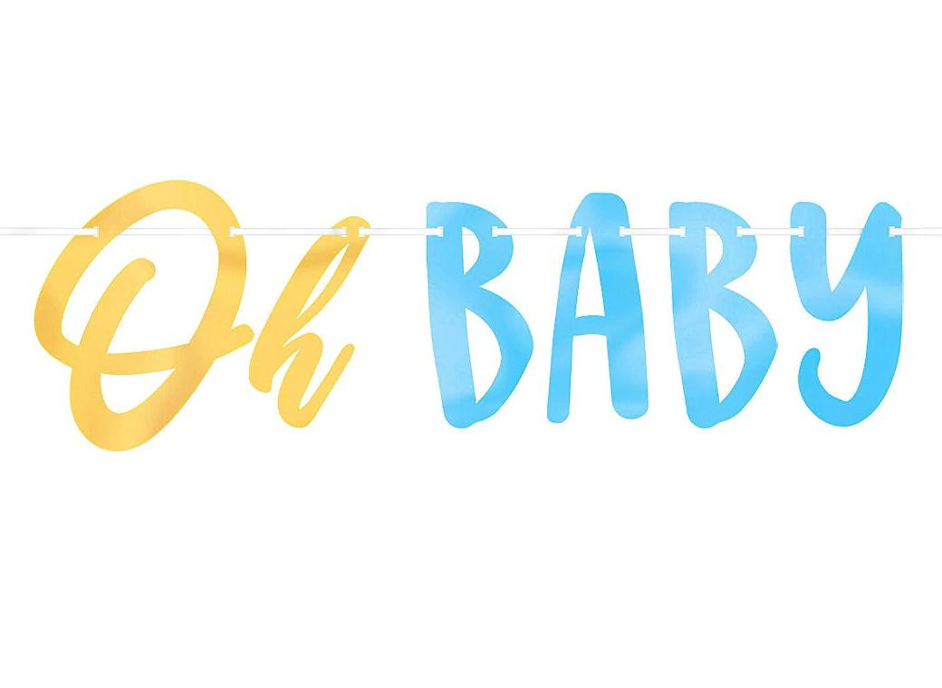 Oh Baby Boy Letter Banner