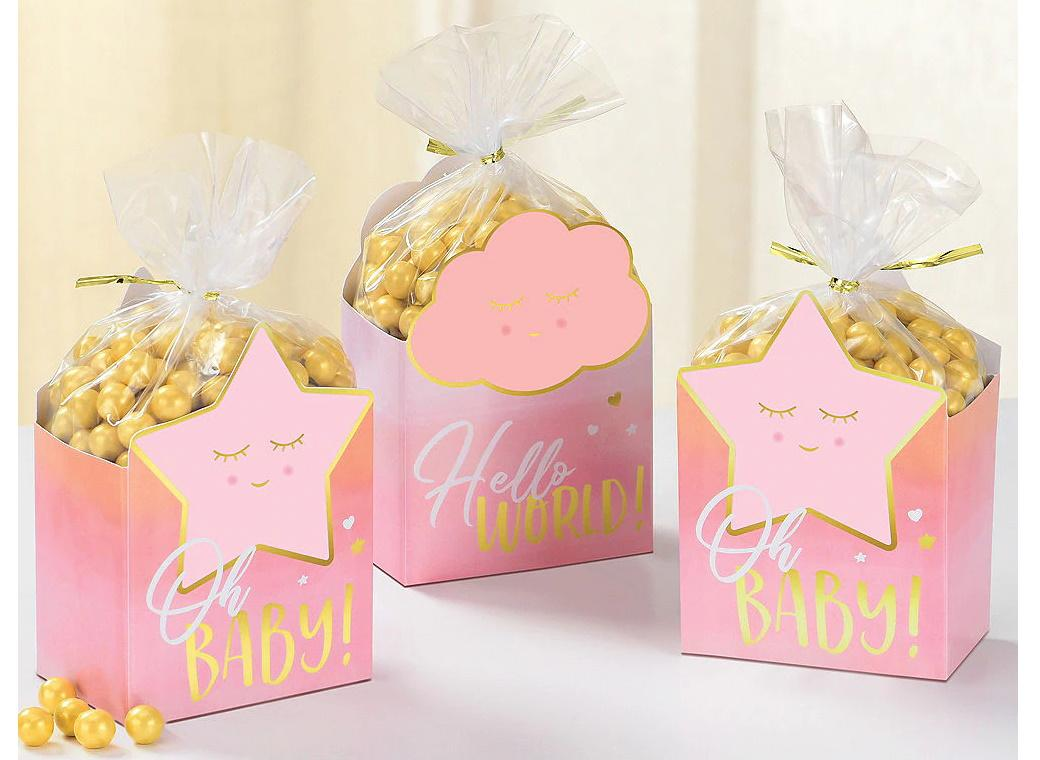 Oh Baby Girl Favour Box Kit 8pk