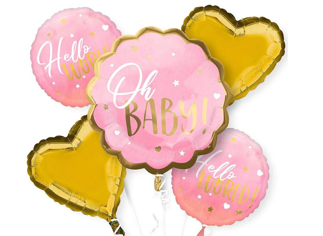 Oh Baby Girl Foil Balloon Bouquet