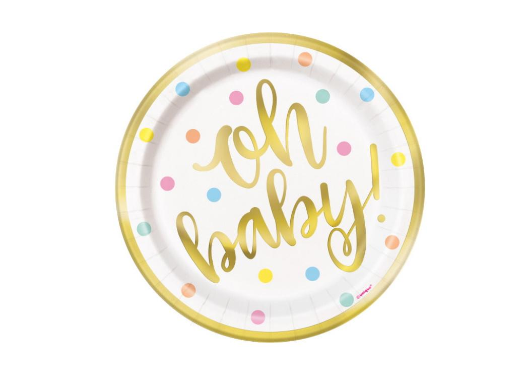 Oh Baby Lunch Plates 8pk