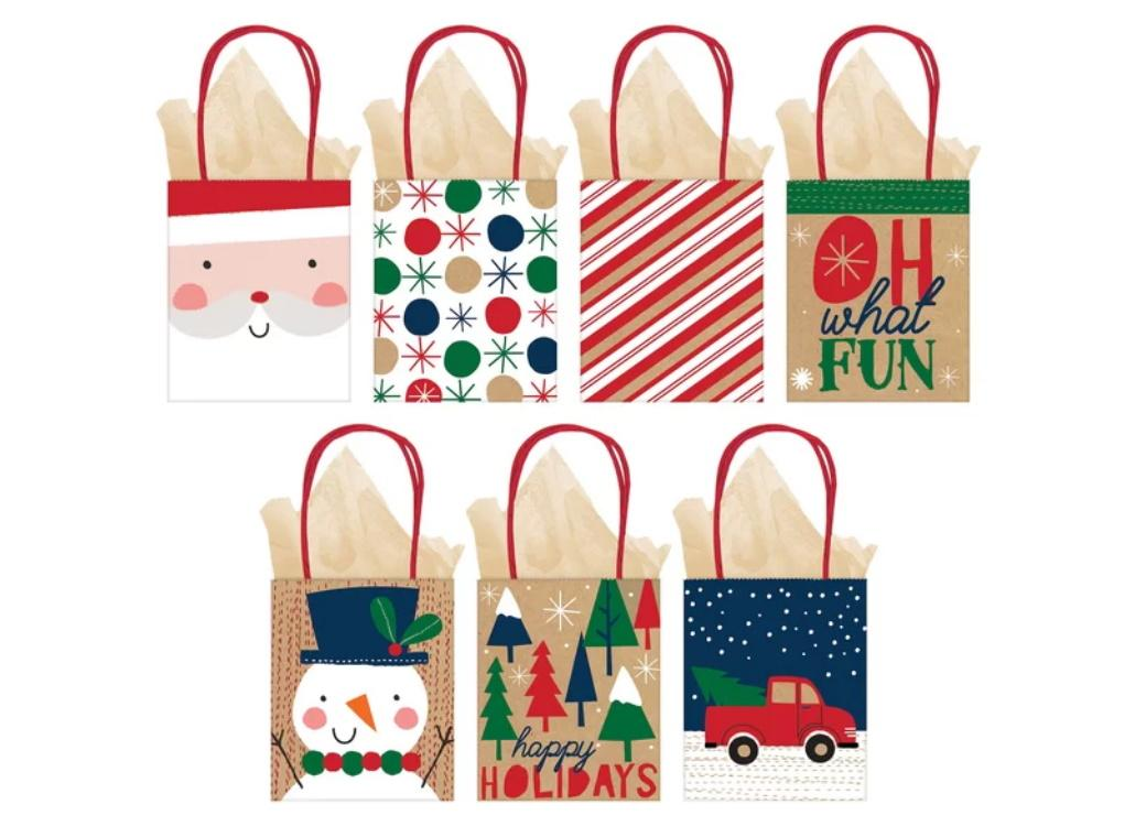 Small Gift Bags 7pk - Oh What Fun