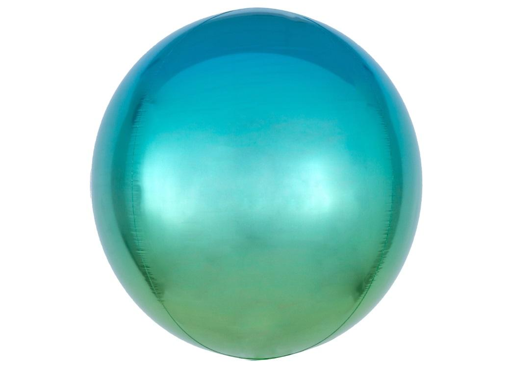 Ombre Orbz Balloon - Blue & Green