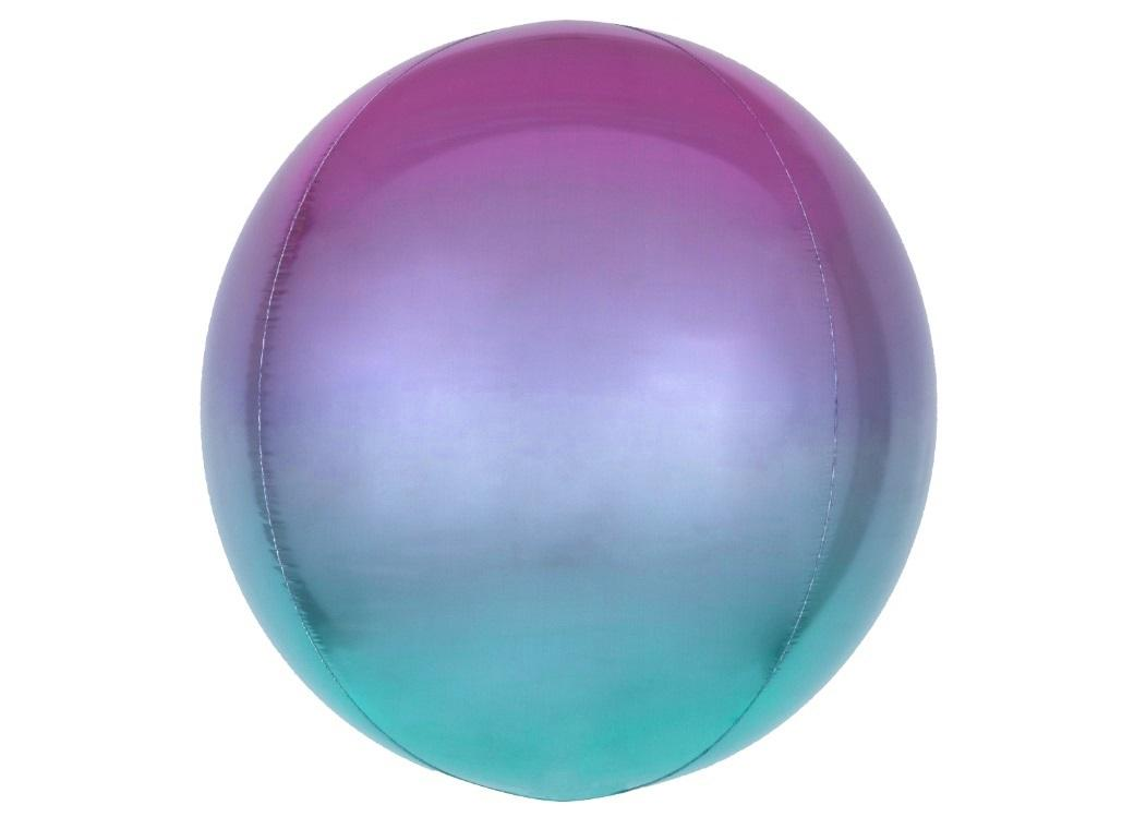 Ombre Orbz Balloon - Purple & Blue