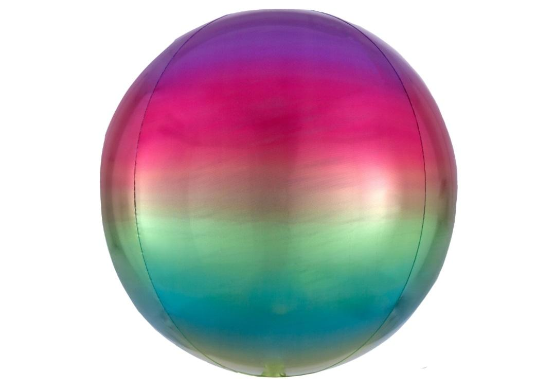 Ombre Orbz Balloon - Rainbow