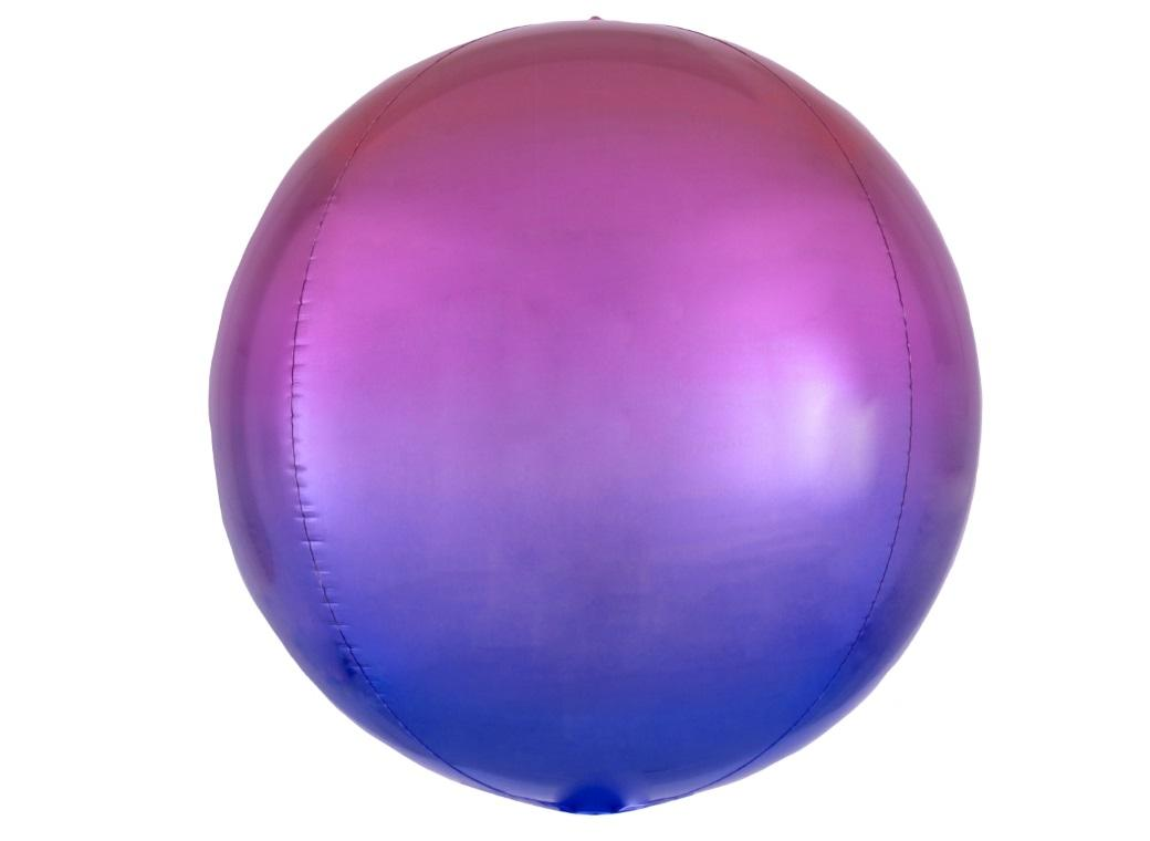 Ombre Orbz Balloon - Red & Blue