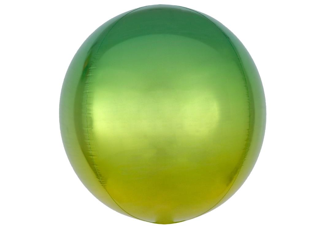 Ombre Orbz Balloon - Yellow & Green
