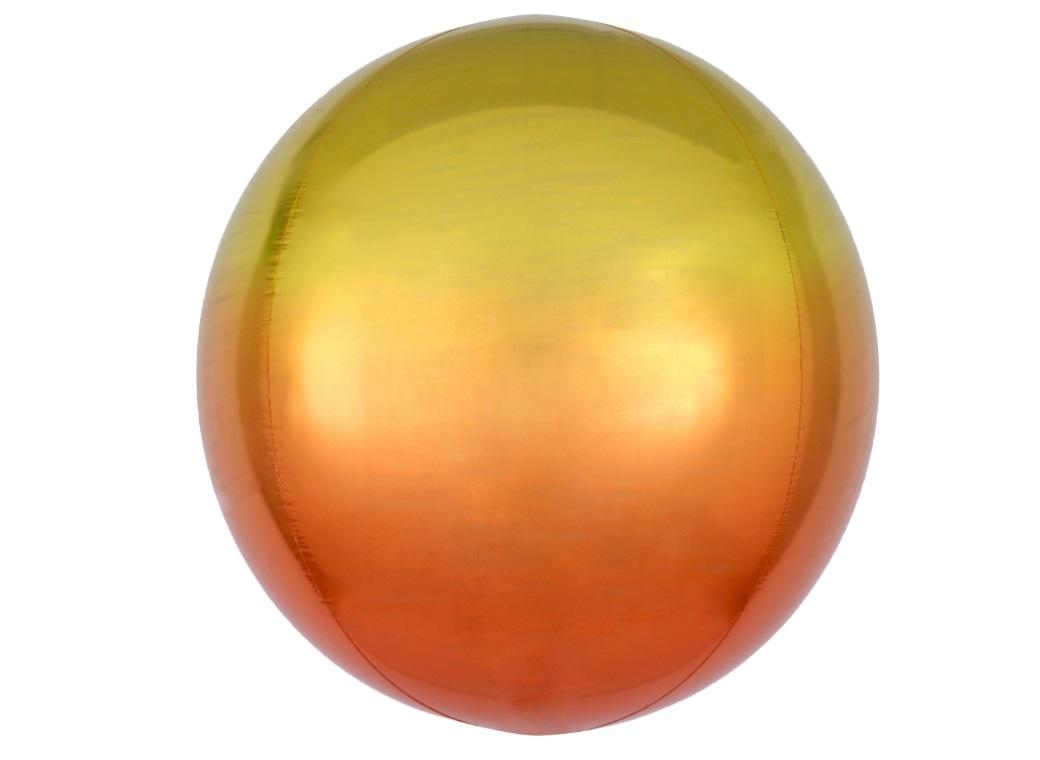 Ombre Orbz Balloon - Yellow & Orange