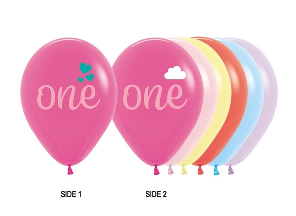 One Girl Balloons 5pk