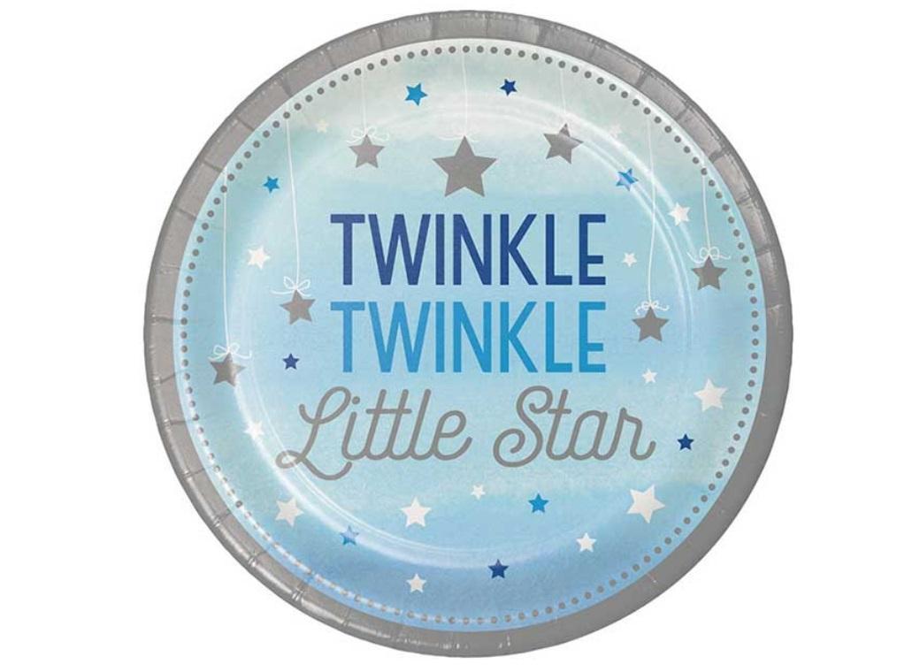 One Little Star Boy Dinner Plates 8pk