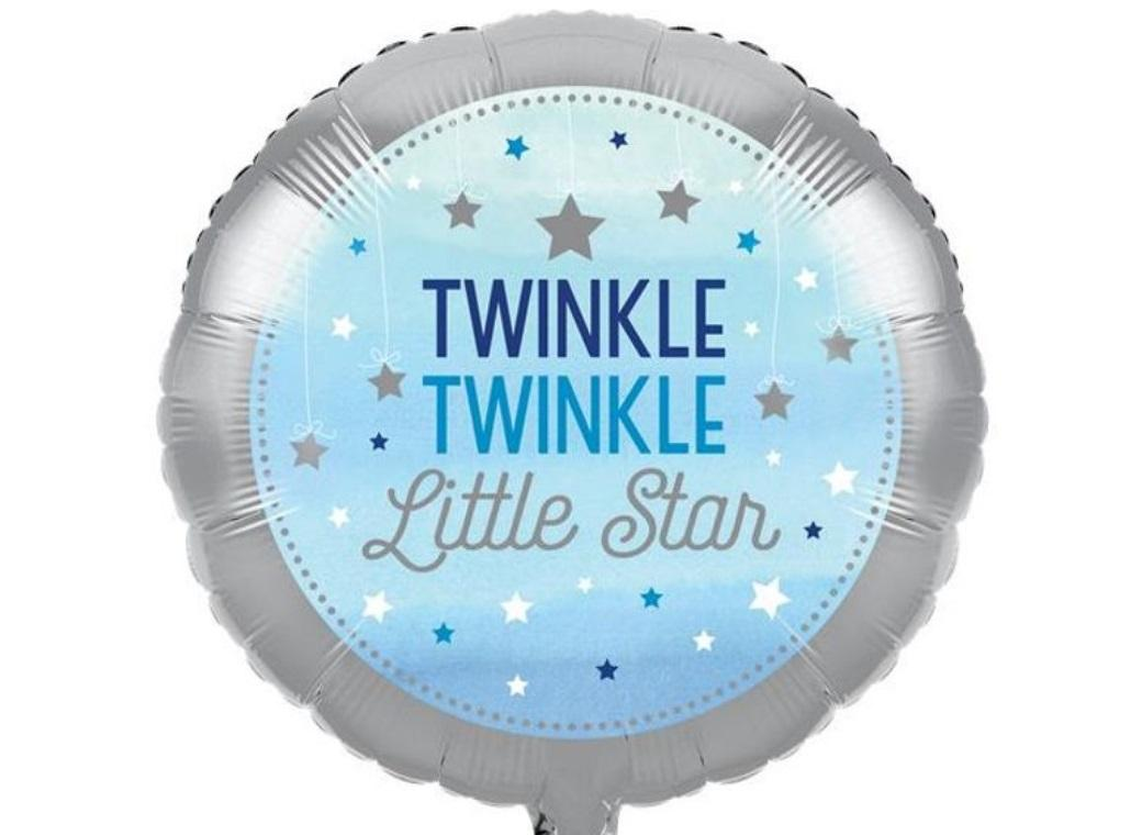 One Little Star Boy Foil Balloon