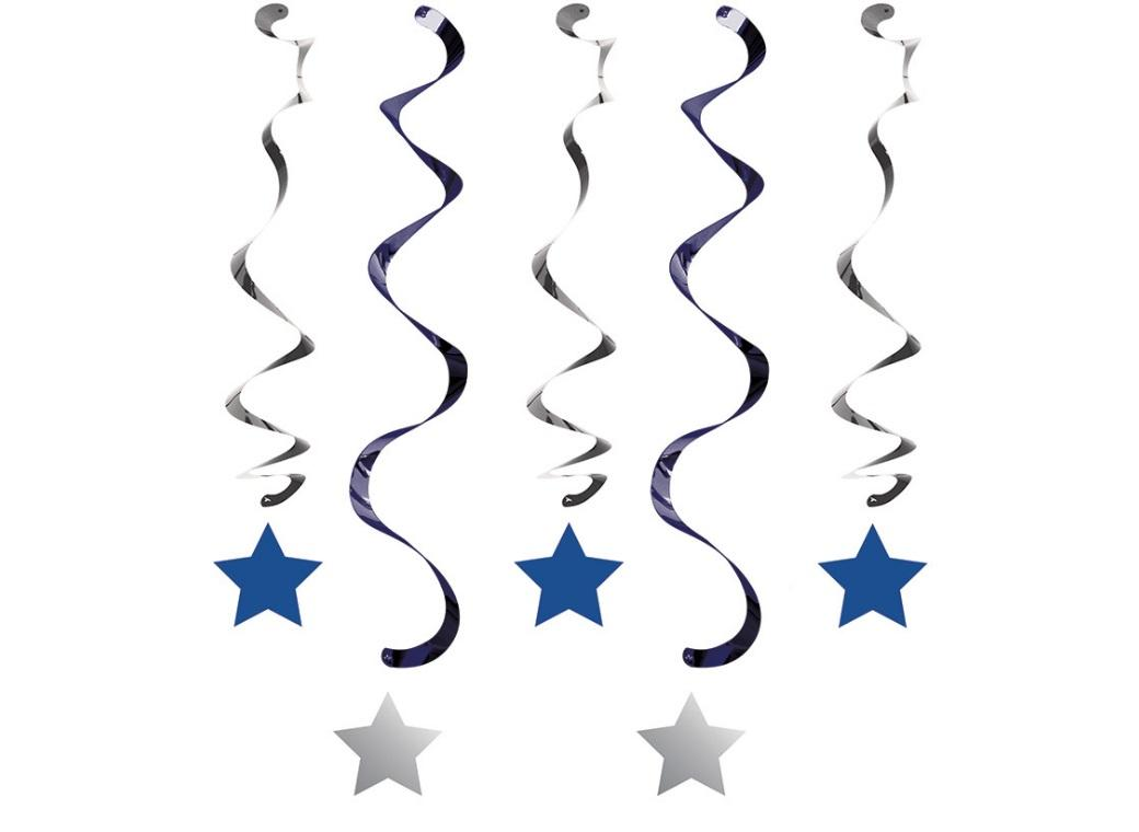 One Little Star Boy Hanging Swirl Decorations