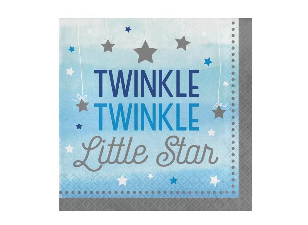 One Little Star Boy Lunch Napkins 16pk