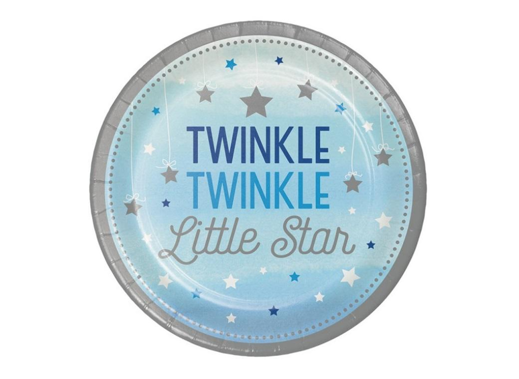 One Little Star Boy Lunch Plates 8pk