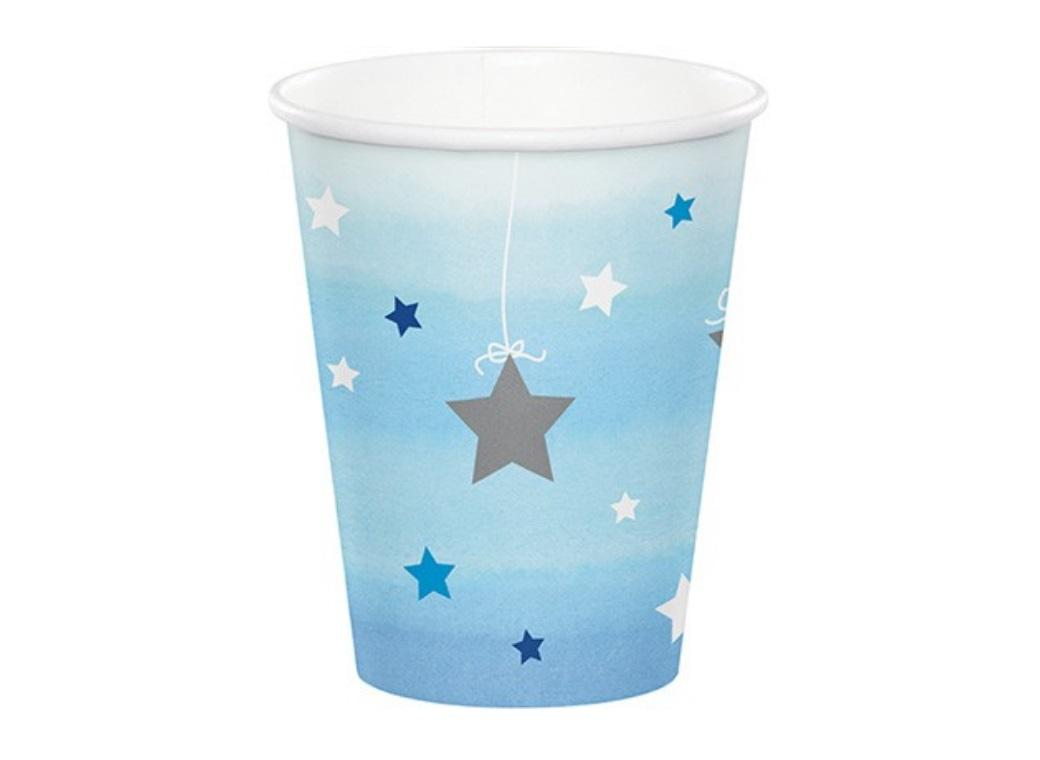 One Little Star Boy Paper Cups 8pk