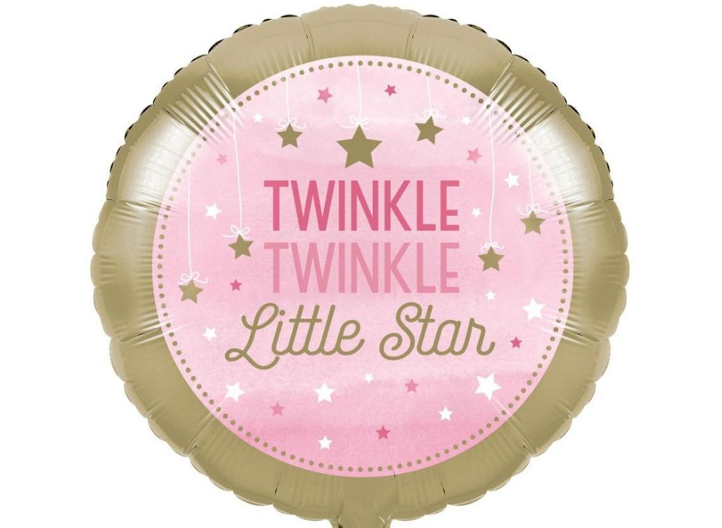 One Little Star Girl Foil Balloon