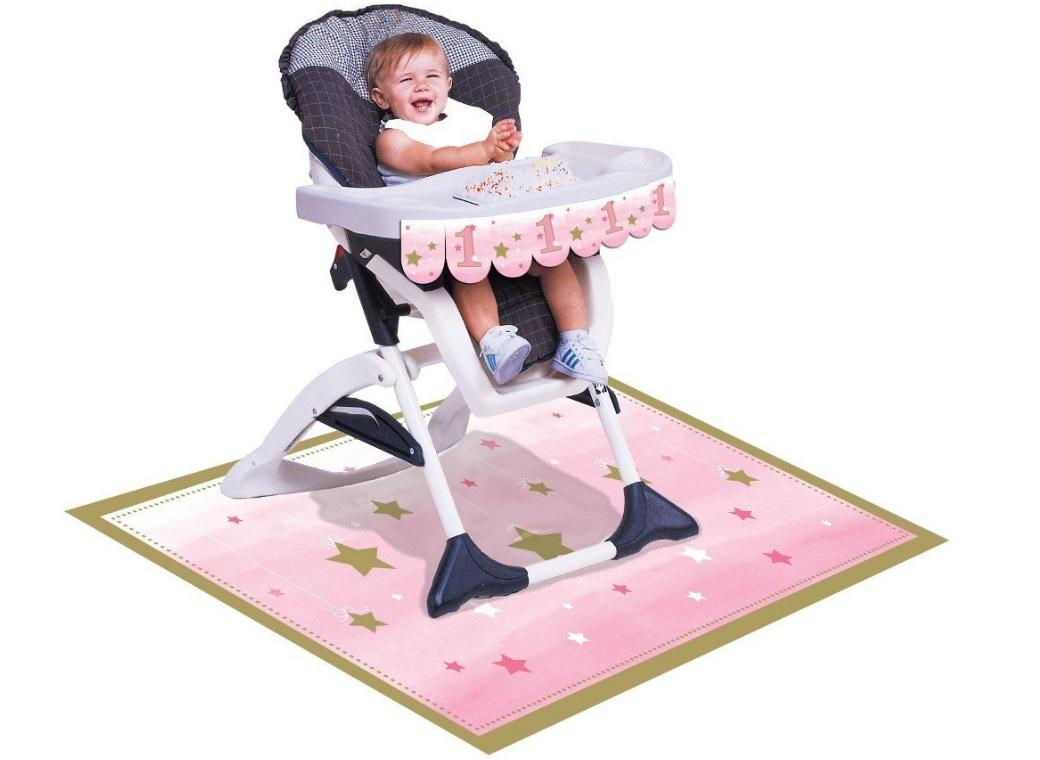 One Little Star Girl 1st Birthday High Chair Kit
