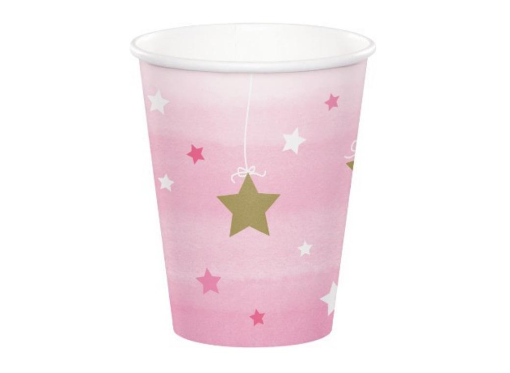 One Little Star Girl Paper Cups 8pk