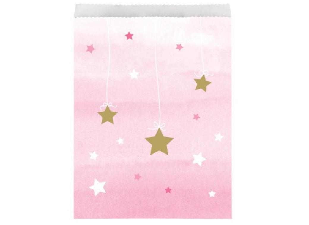 One Little Star Girl Treat Bags 10pk