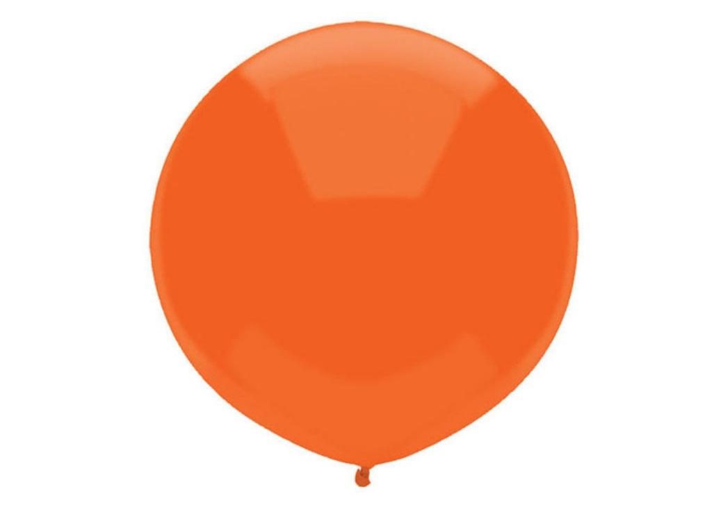 43cm Balloon - Bright Orange