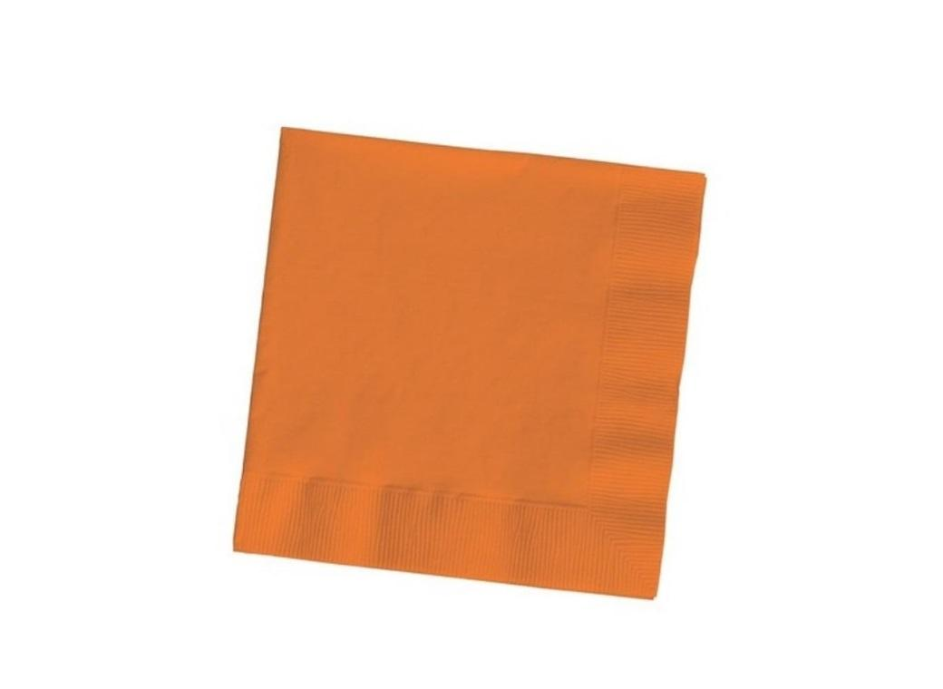 Orange Beverage Napkins 20pk