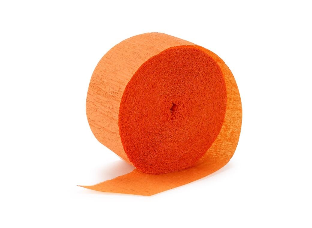 Crepe Paper Streamer - Orange