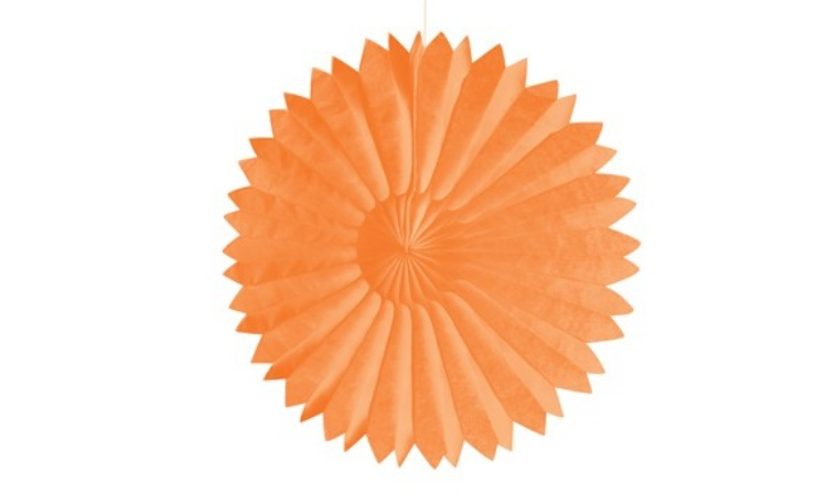 Tissue Fan Orange 25cm