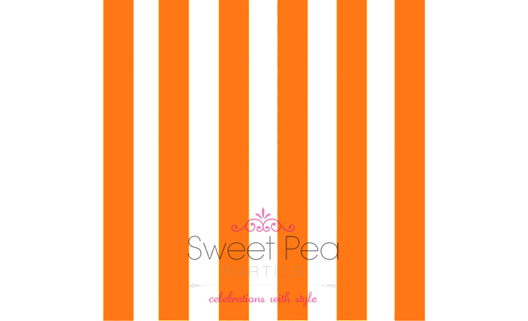 Cabana Stripe - Orange Napkins - 20pk