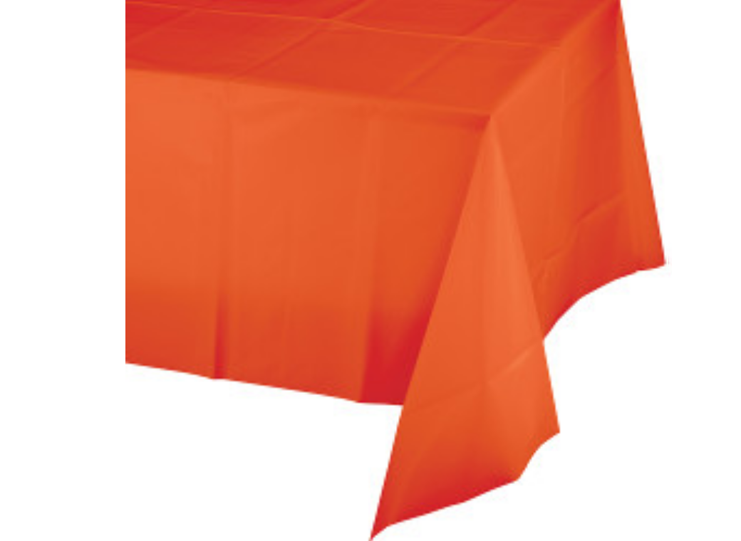 Orange Plastic Table Cloth