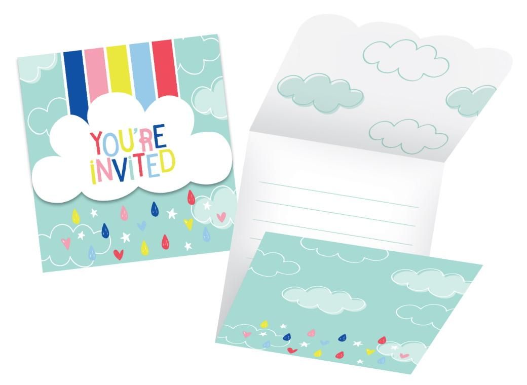 Over the Rainbow Invitations 8pk
