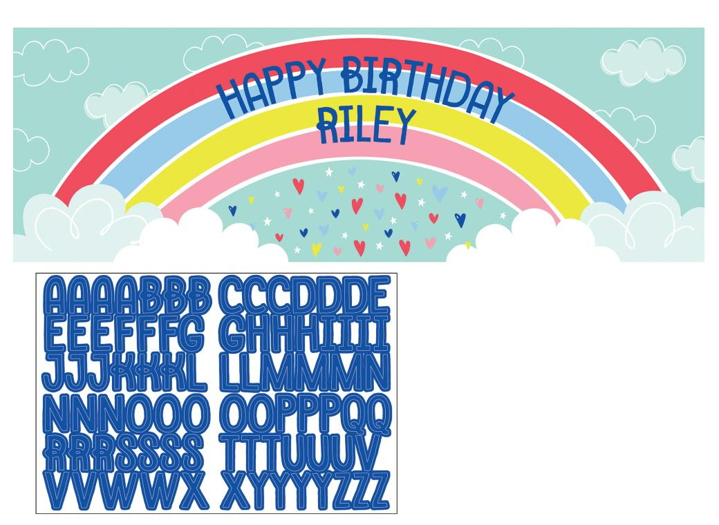 Over the Rainbow Personalised Party Banner