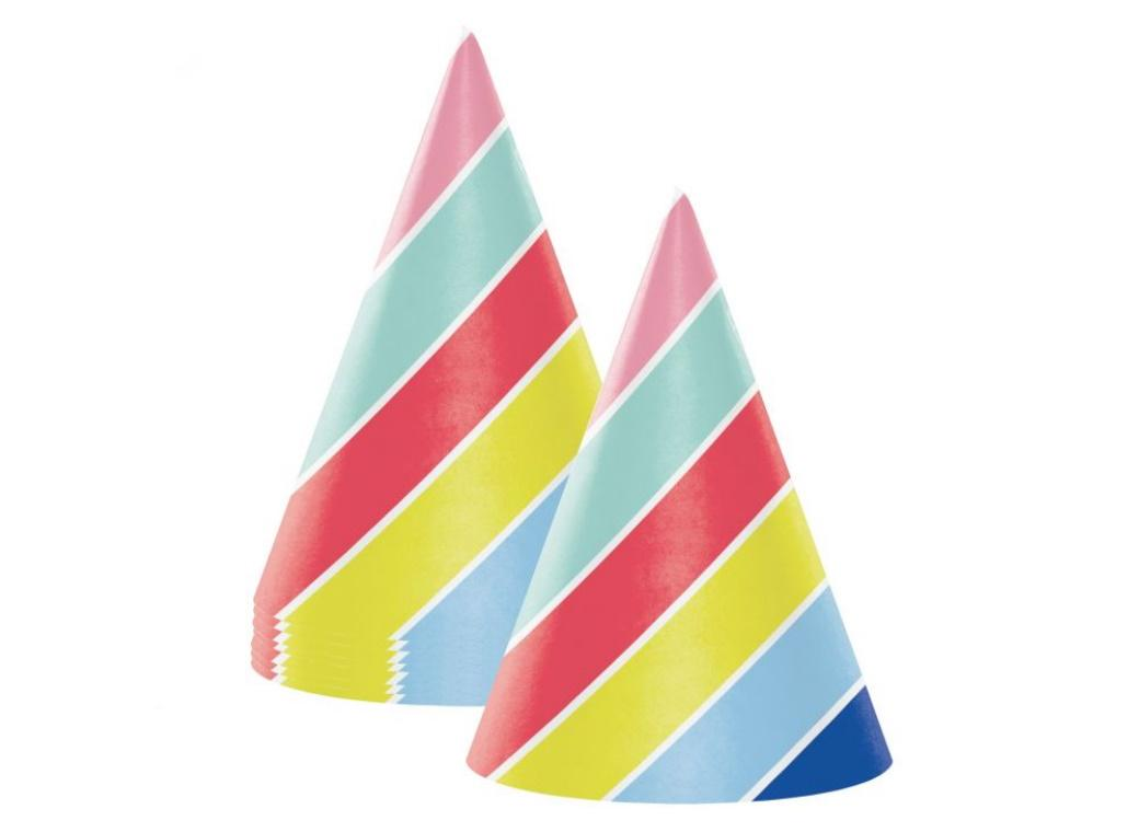 Over the Rainbow Party Hats 8pk