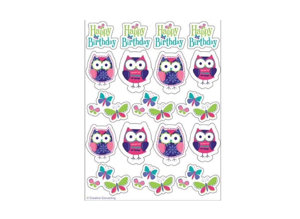 Owl Pal Birthday Value Stickers