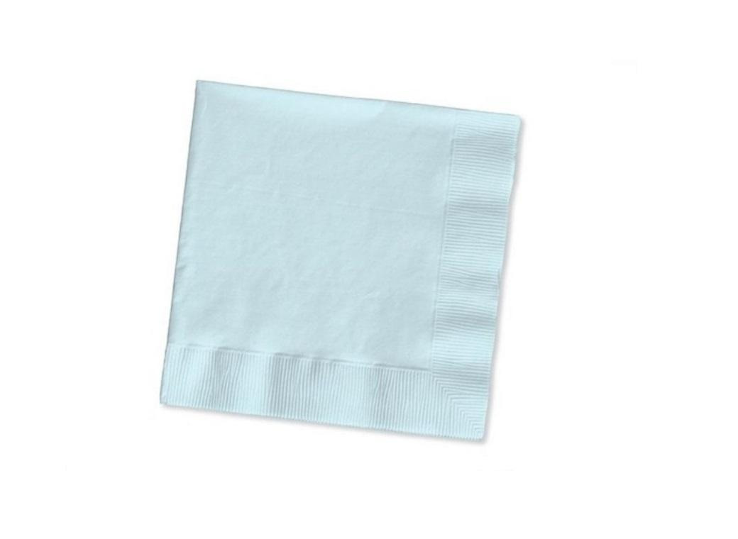 Pale Blue Beverage Napkins 50 Pack